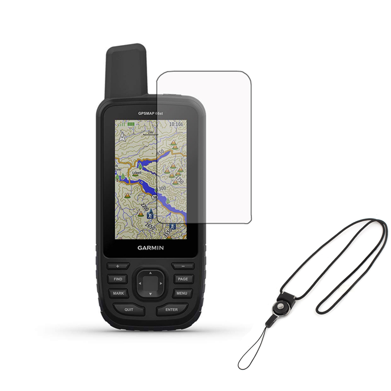 3pcs Clear LCD Shield Film Screen Protector Cover + Detachabl Lanyard For Handheld GPS Garmin GPSMap 66S 66ST 66 Accessories