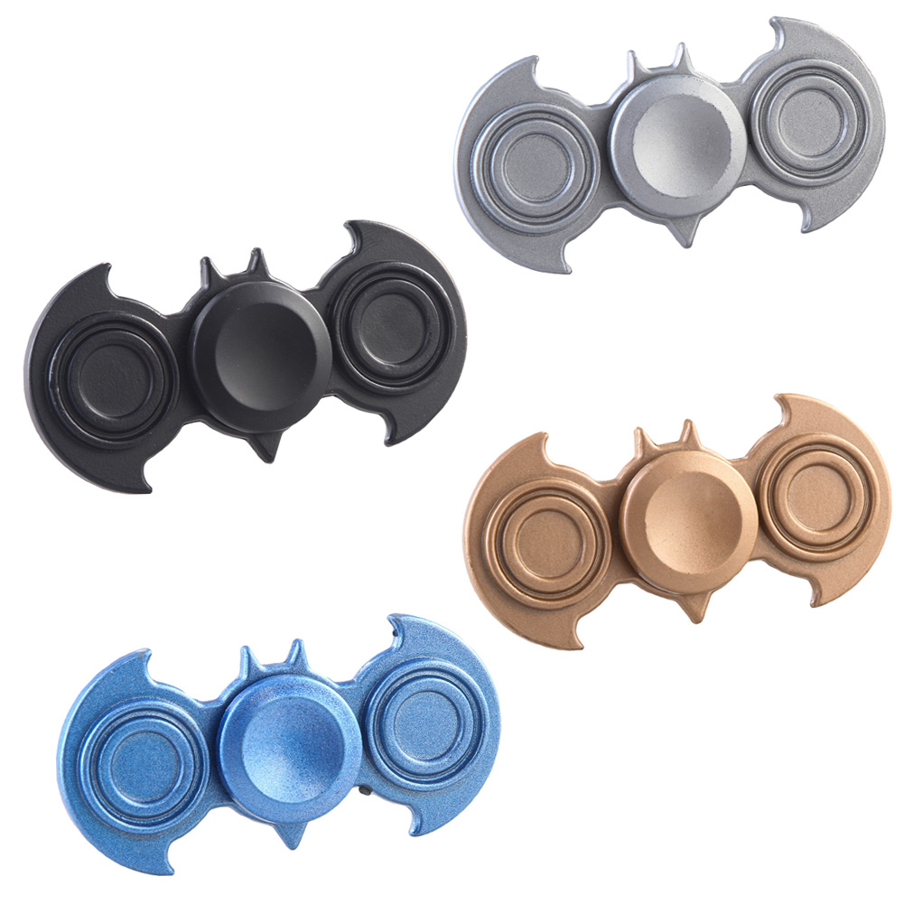 New Colorful Bat Spinner Fidget Spinner EDC Hand Spinner For Autism And ADHD Rotation Spinning Top