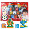 2017 Kids Gift Toys doll Anime Cosplay collection Mini Puzzle Alphabet Letters Numeral Alphabet Transformation Robots Education