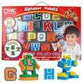 2017 Caçoa o Presente Brinquedos boneca Anime Cosplay coleção Mini Puzzle Alfabeto Letras Numeral Transformação Robots Alfabeto Educação