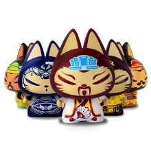 E-FOUR Car Ornament PVC Cats Modelling Cool&Cute Interior Accessories for Cat Lover Satisfying Gift Home Office