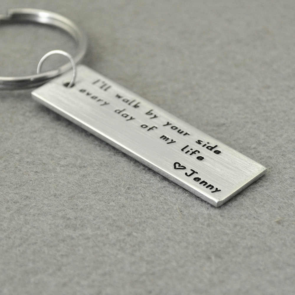 Custom Keychains, Personalized Key Rings, Rectangle Engraved Key Rings,  Boyfriend Keychain, Husband Gift, Valentines Gift