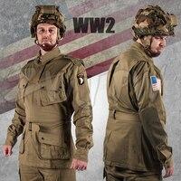 Второй мировой войны WW2 армии США M42 форма 101 Air Force десантников войска костюмы тактическая куртка и брюки US/501101