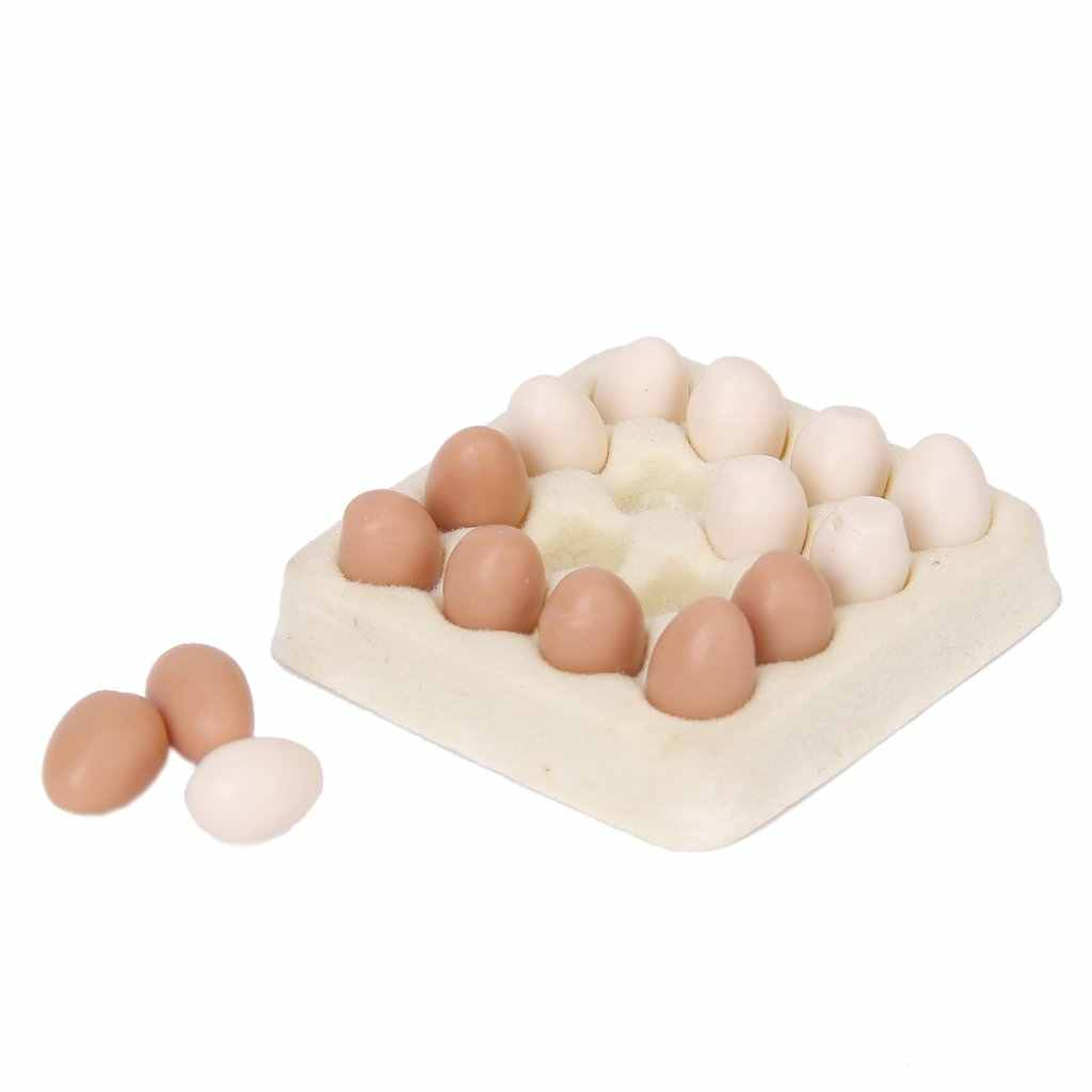 1/12 dollhouse miniature egg carton with 16 pcs eggs dollhouses