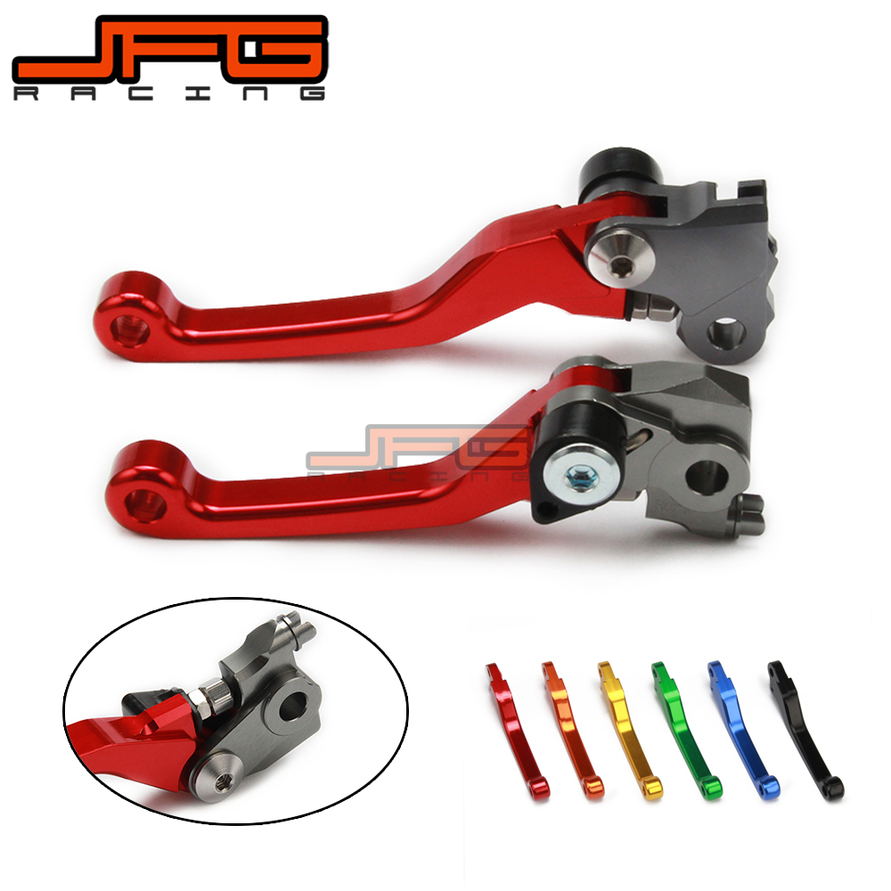 CNC Pivot Foldable Clutch Brake Lever For HONDA CRF250R CRF450R CRF 250R 450R 07 08 2009 2010 2011 2012 2013 2014 2015 2016 2017 hot one pair cnc pivot dirttbike brake clutch levers for honda crf450r 2007 2015 2008 2009 2010 2011 2012 2013