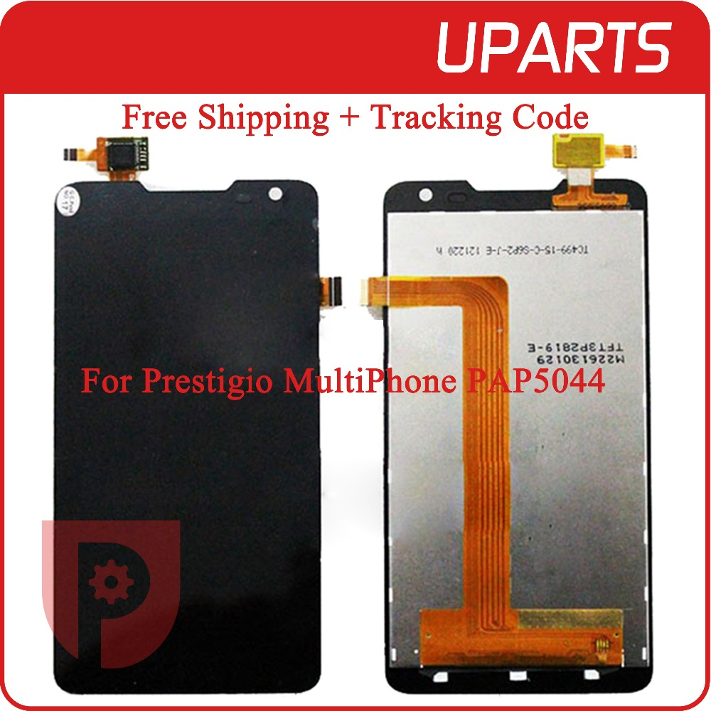A+++High Quality 5.0 For Prestigio MultiPhone 5044 Duo PAP5044 LCD Display Touch Panel Digitizer Assembly Free Shipping+Track