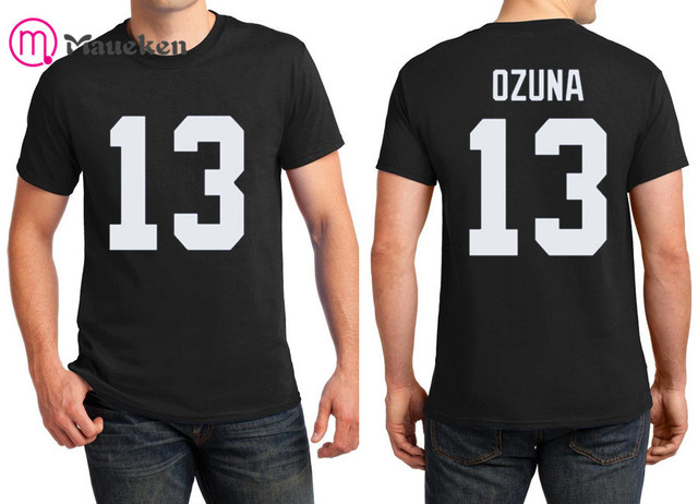 quality design 73fbc c949c US $13.99  2018 Printed name Marcell Ozuna T Shirt Men Short Sleeve 100%  cotton O Neck T shirts for fans gift 0820 11-in T-Shirts from Men's  Clothing ...