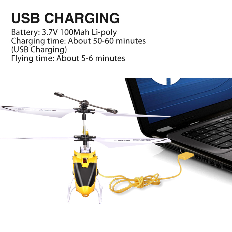 Image 5 - 100% Original SYMA W25 2CH Indoor Small RC Electric Aluminium Alloy Drone Remote Control Helicopter Shatterproof boys toys-in RC Helicopters from Toys & Hobbies