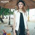 White Leather Vest Women Colete De Couro Feminina Short Sleeveless Motorcycle Waistcoat Embroidery PU Leather Coat MF7587