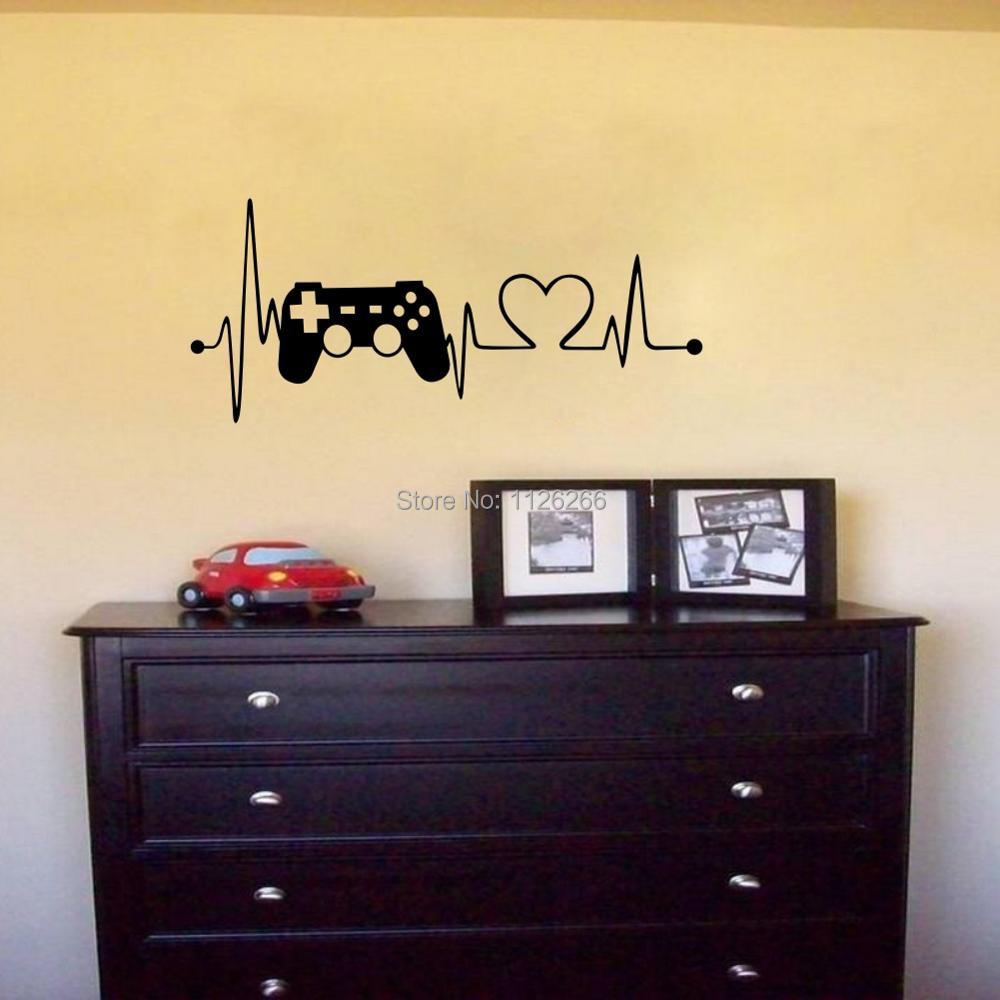 Game Heartbeat Wall Decal Sticker for Boys Bedroom Playroom Home ...