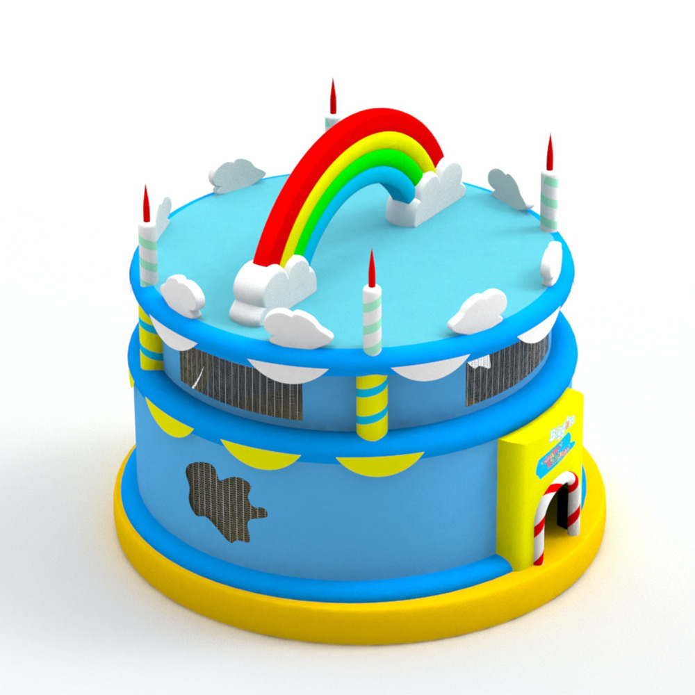 Birthday Cake Bounce House Gift For Children Trampoline Outdoor