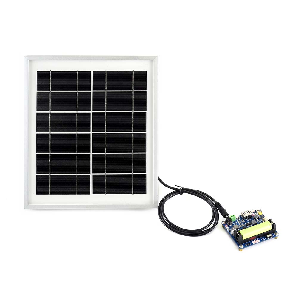 Waveshare Solar Panel (6V 5W) 156 Monocrystalline Cell Toughened Glass Surface For Use With Solar Power Manager