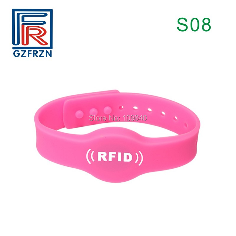 100pcs/lot S08 Style NFC Silicone Wristbands Tag NTAG213 RFID Bracelet Cards Waterproof For NFC Phone Access Control