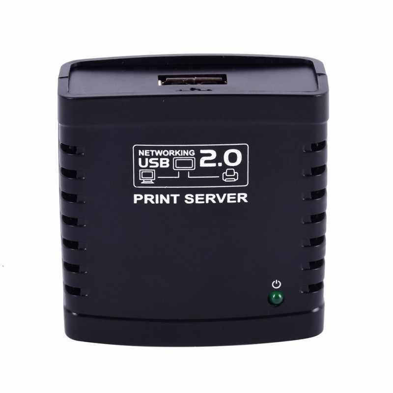 KuWFi USB 2.0 LRP プリントサーバーの共有 LAN イーサネットネットワーキングプリンタ電源アダプタ Usb ハブ 100Mbps ネットワーク印刷サーバ