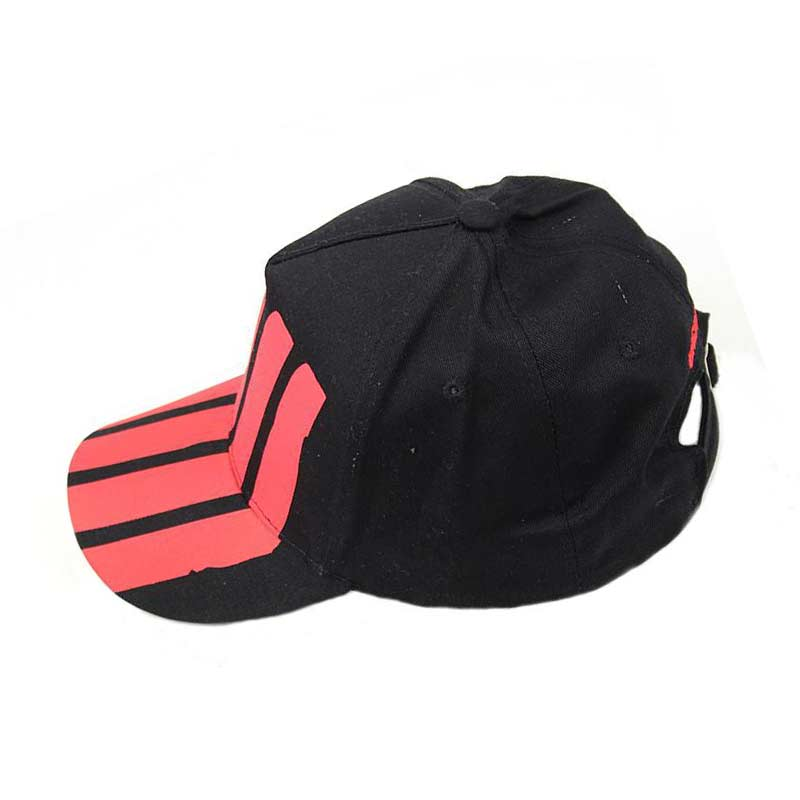2018 Unsiex Fashion Black Red Striped Baseball Cap Chapeau Men Adjustable Golf Ball Caps Women Sunshade Cap For Outdoor Travel