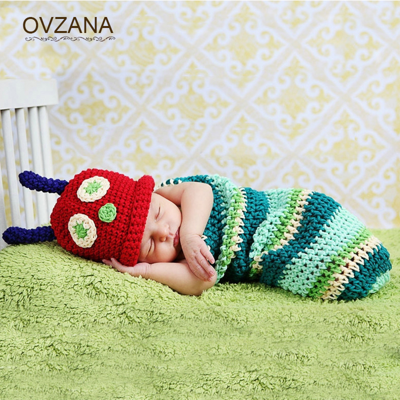 Knitted Blanket Newborn Photography Props Cartoon Animal Swaddle