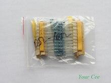 180 шт. 18 Вида Цветное Кольцо Резистор 1/4 Вт Сопротивление 1% Резистор Металлические Пленочные Ассорти Комплект (0 ом ~ 10 ом)
