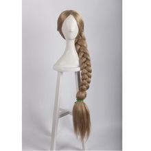 Movie Tangled Rapunzel Princess Blonde Big Braid Straight Cosplay Anime Wig Hair