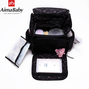 Image 4 - AIMABABY Pannolino Sacchetto di Modo Mummia Maternità Del Sacchetto Del Pannolino Del Bambino di Marca Zaino Da Viaggio Organizzatore Pannolini Sacchetto di Cura Per Il Bambino Passeggino