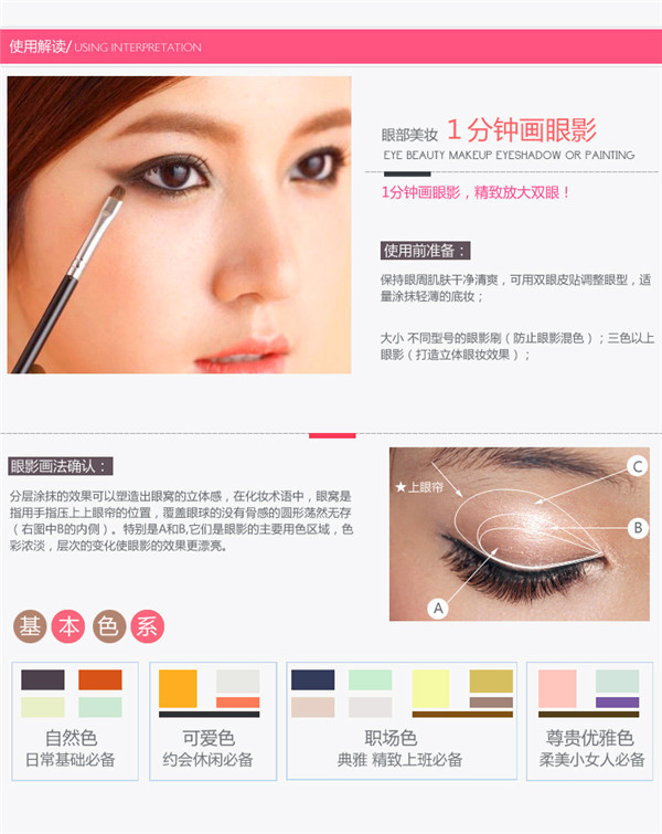 Eye Shadow Stencils Pcsset Template For Eyeshadow Fashion Makeup - Eyeshadow template