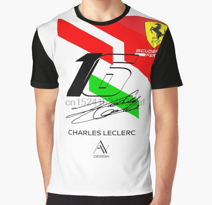 All Over Print T Shirt Men Funny Tshirt Charles Leclerc 2019 Graphic Women T-Shirt