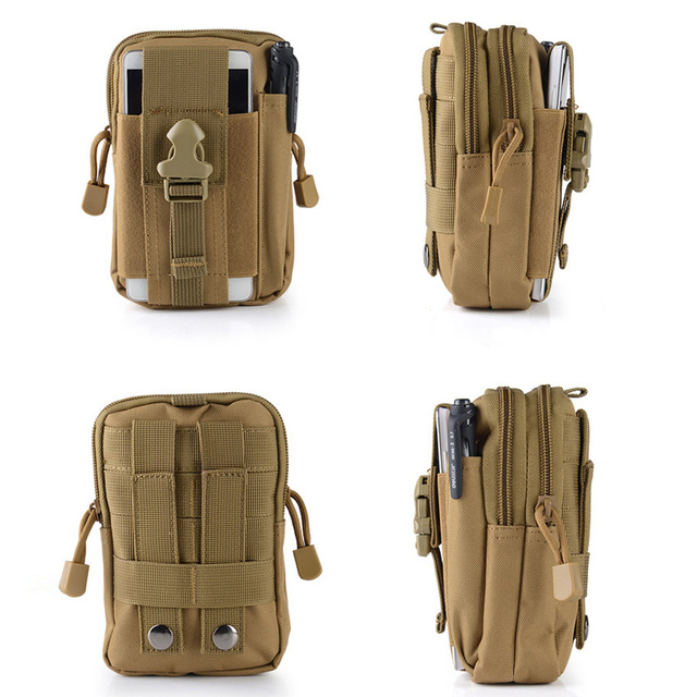 Military Molle Pouch Waist Bag Camo Waterproof Nylon Multifunction Casual Men Fanny Waist Pack Male Small Bag Mobile Phone Case