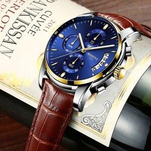 Image 4 - NIBOSI montre de Sport pour hommes, de marque de luxe, à Quartz, à Date automatique, étanche, bleu