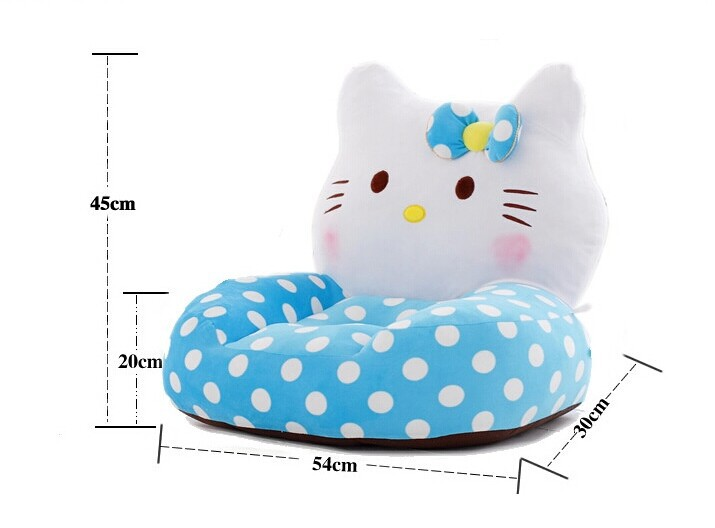 about 54x45cm blue hello kitty cat plush toy sofa tatami plush toy soft sofa floor seat cushion doll birthday gift t8505 about 54x45cm cartoon monkey plush toy zipper closure tatami soft sofa floor seat cushion brown colour birthday gift t8954
