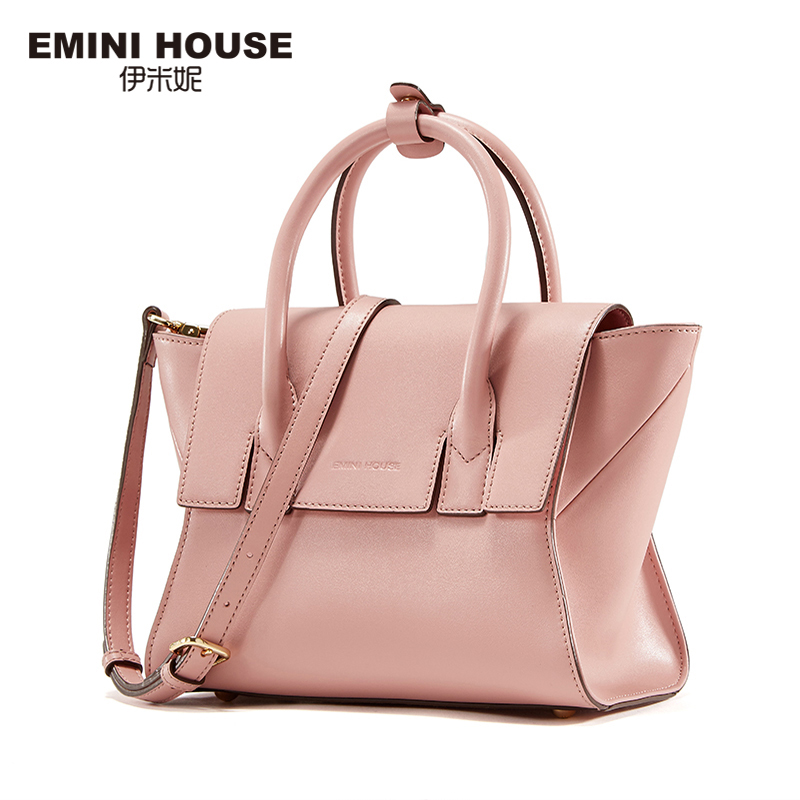 EMINI HOUSE  Split Leather Trapeze Bag Fashion Wings Crossbody Bag Women Shoulde