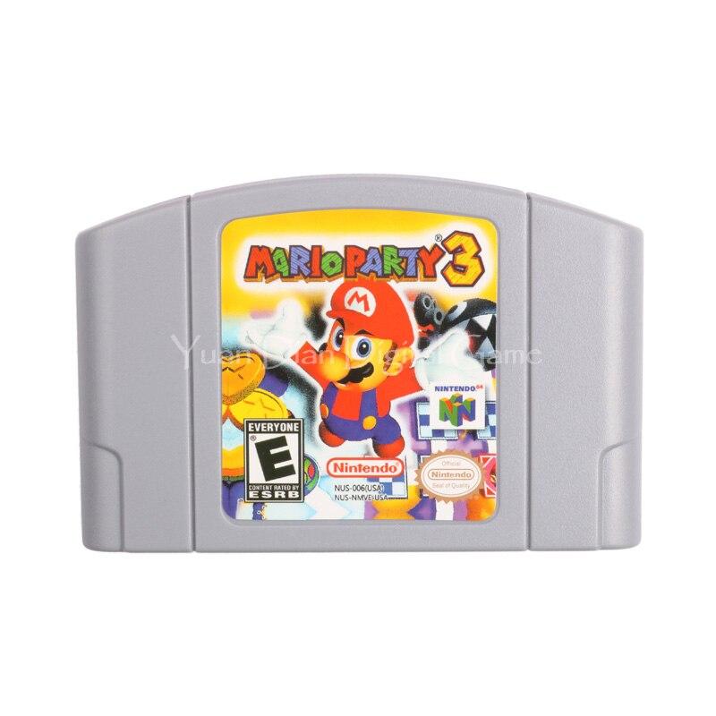 Nintendo N64 Video Game Cartridge Console Card Mario Party 3 English Language Version rpg game cartridge final fantasy iv 4 usa version save file english language with real metal screws