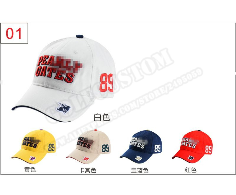 Custom logo 2016 Brand New golf Caps Professional cotton golf ball cap High Quality sports golf hat 6 colors availeber ...