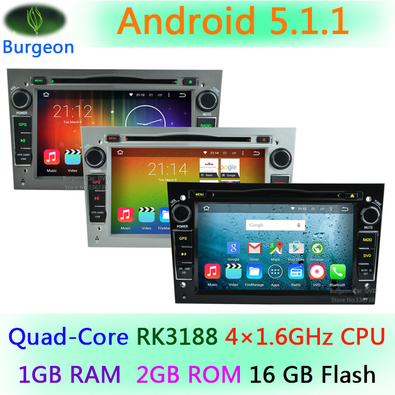HD 1024X600 Quad Core 2GB ROM Android 5.1.1 for Opel Vectra C D Vivaro Meriva Antara Astra Corsa Zafira Car DVD Player Radio GPS
