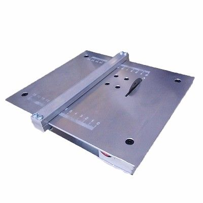 DIY Aluminium Alloy Table Saw Cutting font b Machine b font Mini Circular Saw Eletric Saw