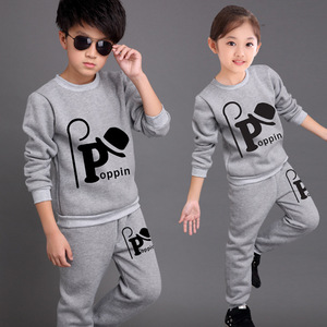 Children's Suits Spring Autumn Wear Boys and Girls Long Sleeved Tops + Trousers Kids 2 Suits Big Children Sport Sets 3-12 Ages