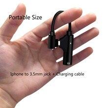 Para o iphone Adaptador para fone de Ouvido 3.5mm Jack Adaptador de Áudio Adaptador de Carga para iPhone 7/8 Plus/XR /X/XS Fones De Ouvido Adaptador Splitter
