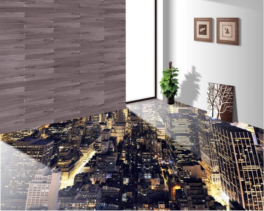 3d Flooring Wallpaper 3D City Lights Living Room 3d floor bathroom PVC Self adhesive Waterproof. Things To Make You Use The Bathroom