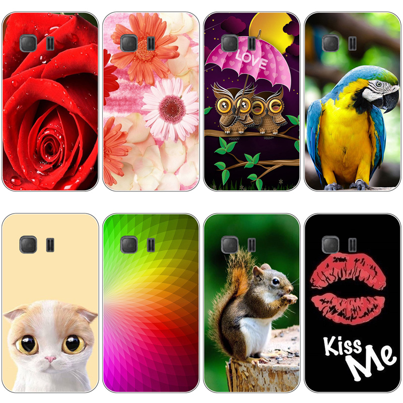 Cute Animal Cat Printing Case For Samsung Galaxy Young 2 G130 G130H G130E Cover Relief Cartoon Design Funda Phone Skin Coque