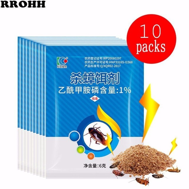 10Packs New Effective Killing Cockroach Bait Powder Cockroach Repeller Insect Roach Killer Anti Pest Reject Trap Pest Control