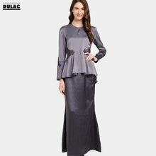 Advanced Customization Wholesale Middle East Patterned Women Fashion Long  Dress Clothing Islamic Lace Wear Muslim Baju Kurung bbbaa3bdba14