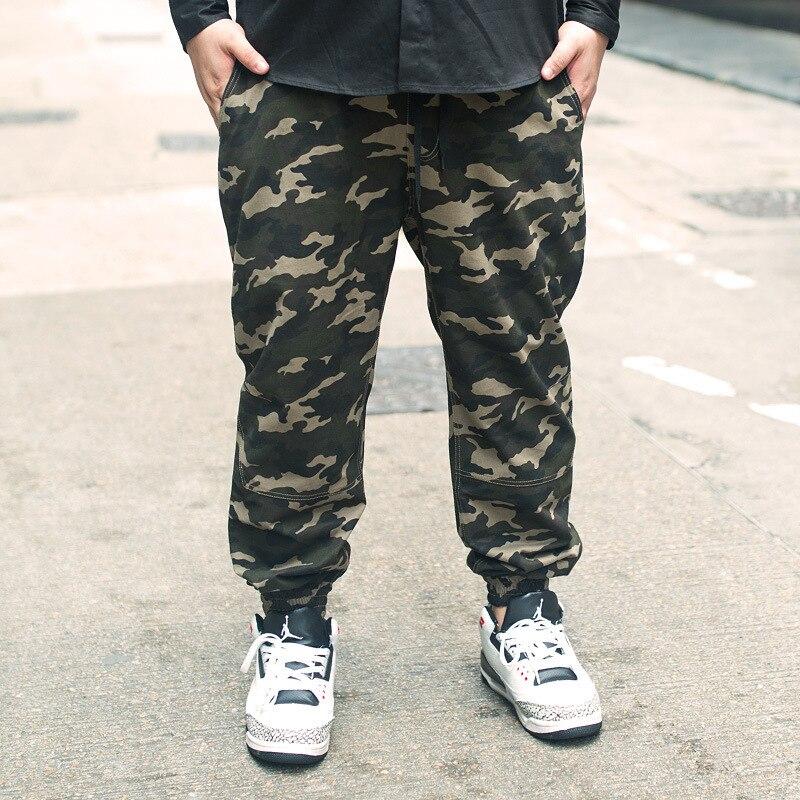 2017 Tide Brand Code Men's Wear The Male Increase Fertilizer Enlarge Camouflage Bound Feet Pants Tuba Banded Pants Trousers