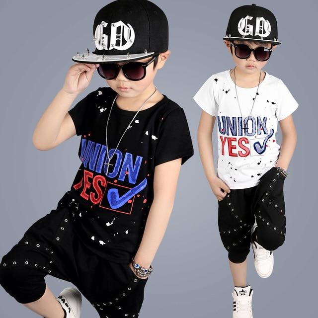 2017 Nuovo Modello di Estate Dei Bambini Boy Set di Abbigliamento  Streetwear Abbigliamento Per Bambini 2 ef4346d86fd