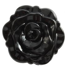 Красивые 3D Stereo Двусторонняя Милый Ретро Роуз Форма Косметическая карманный персональный Зеркало Черный