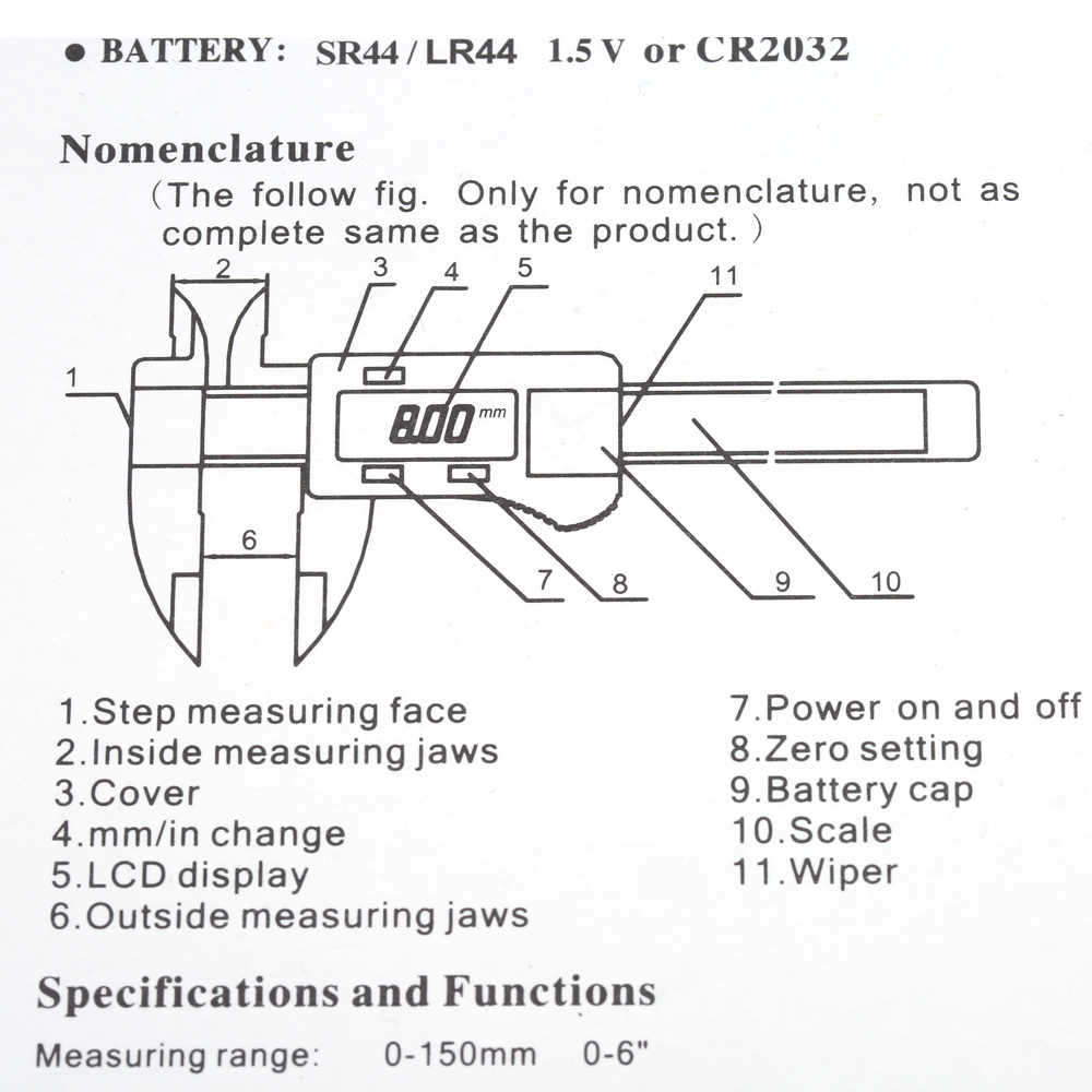 6 professional electronic callipers digital gauge vernier caliper fiberglass feeler gauge lcd paquimetro 150mm measuring tool  [ 1000 x 1000 Pixel ]