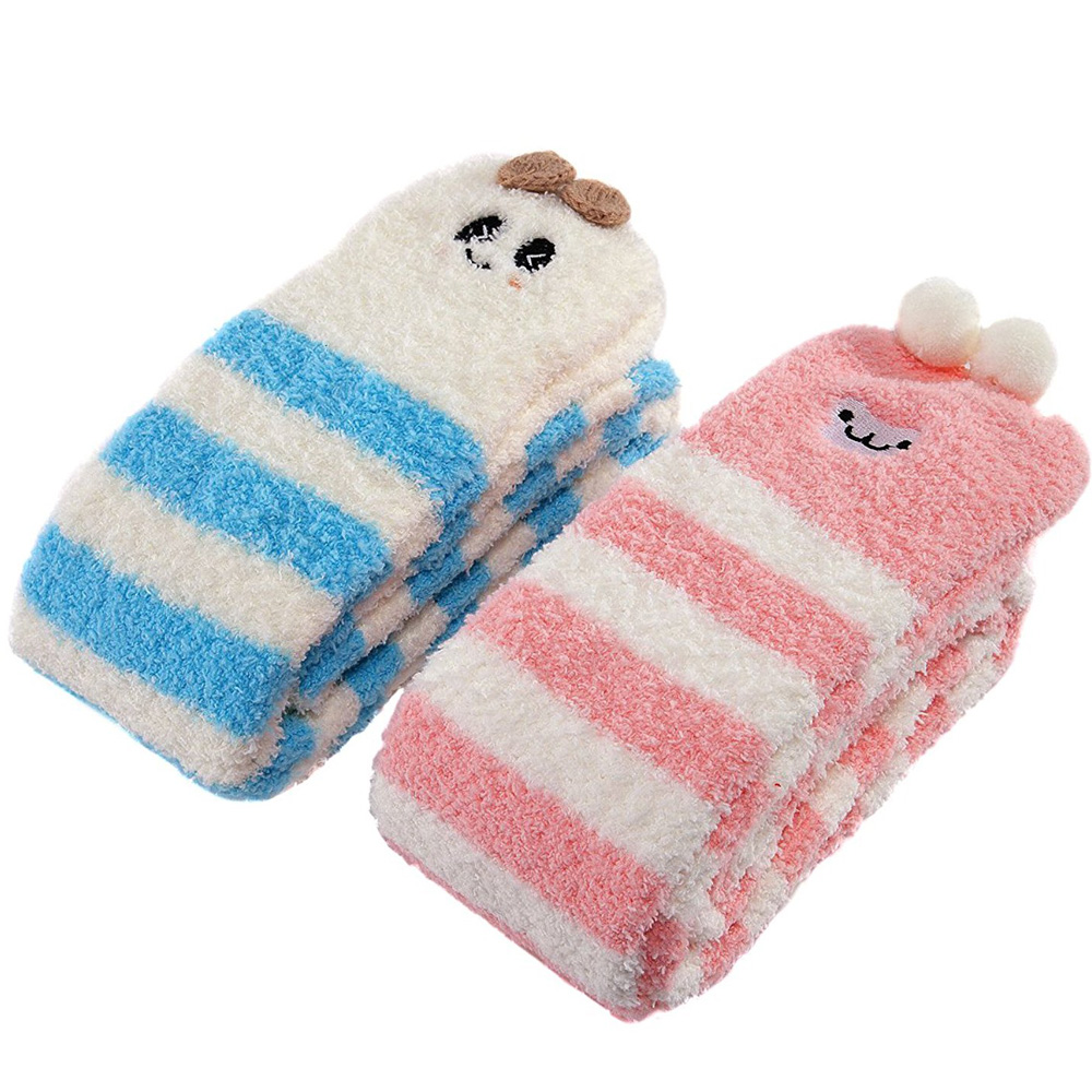 Image 3 - Adult Cute Animal Coral Fleece Thigh High Long Striped Socks Abdl ddlg Sissy Kink Little Space Ageplay SocksStockings   -
