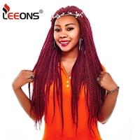 Leeons Wholesale 10Pcs/Lot Latch Hook Hair Kanekalon Synthetic Braiding Hair Senegalese Crochet Braid Natural Curly Hair