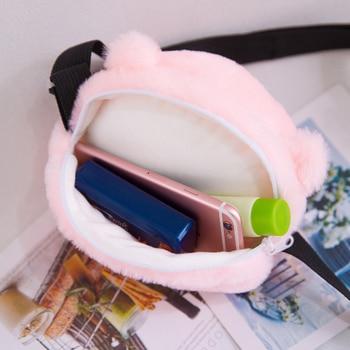 Mini bolso de maquillaje con dibujo de osito de felpa de 18CM para cabeza monedero relleno Animal juguete niña cabeza de oso bonito regalo de cumpleaños