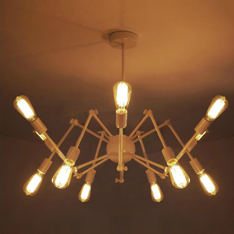 12 head Art Deco spider pendant Lamp iron Loft Lights adjustable E27 for Parlor bar cafe office Master bedroom Parlor office12 head Art Deco spider pendant Lamp iron Loft Lights adjustable E27 for Parlor bar cafe office Master bedroom Parlor office