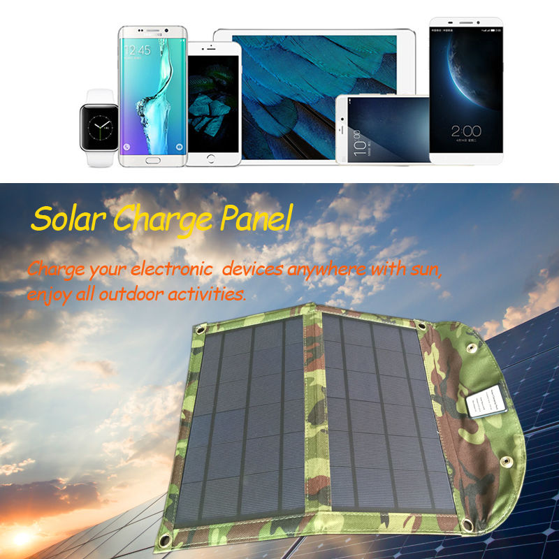 10W Solar Cell Charger Solar Panel Battery for cellphone iPhone 6s 8, iPad mini, Galaxy S8 and More