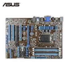 ASUS P8H77-V Le оригинальный использоваться для настольных ПК H77 LGA 1155 22nm i3 i5 i7 DDR3 32 г SATA3 USB3.0 ATX Распродажа