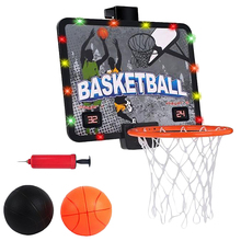 Childrens Outdoor Basketball Toy Interactive Game Sports Equipment Electronic Scoreboard Board Set